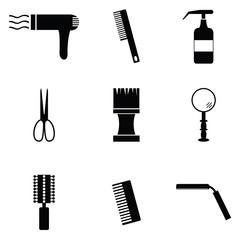 salon icon set