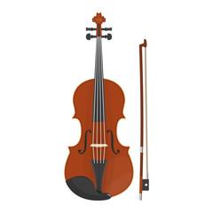 illustration of violin on white background.