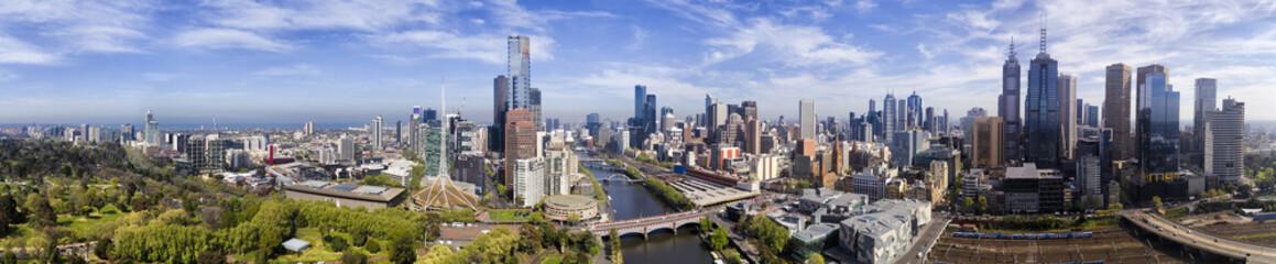 Drone Melbourne CBD Day panorama
