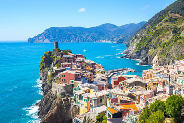Wall Mural - View of Vernazza one of Cinque Terre in the province of La Spezia, Italy