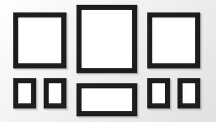 Picture frames. Photoframes mockup.