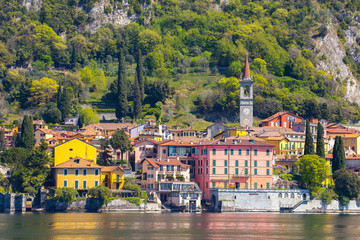 Wall Mural - Lake Como with view of Varenna in Lecco, Italy