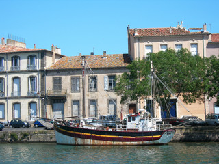 The harbour at Sete,  Hérault department, France