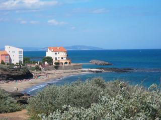 The coast near Sete,  Hérault department, France