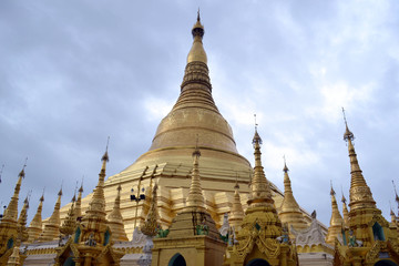 The national religious symbol of Burmese people. It's the shwedagon Pagoda with its golden stupa