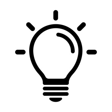 light bulb / idea /  inspiration icon