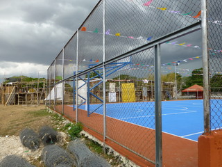 Sport field and bullring in a small village in Yucatan, Mexico