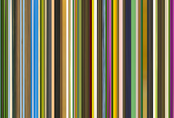 Background drawing barcode mix of colors of green tones with bright stripes of blue color