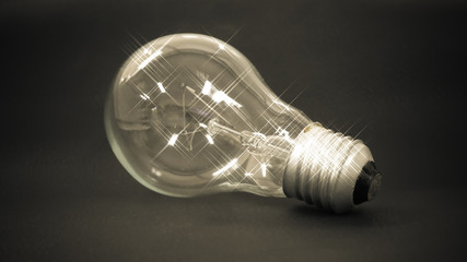 lamp in idea concept.