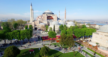 Aerial view of Sultanahmet Square in Istanbul