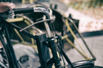 retro tricycle. vintage trishaw. traditional rickshaw.