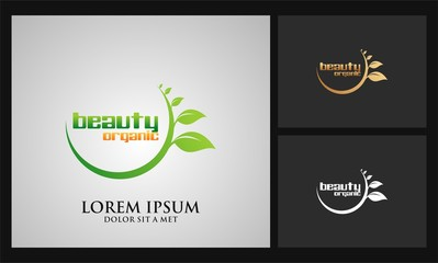 circle leaf beauty logo
