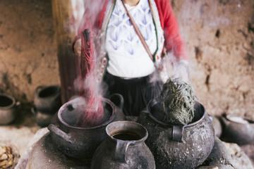Färbe & Waschtechnik in Peru