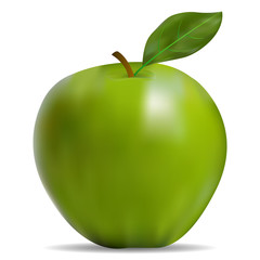 The image of the green apple