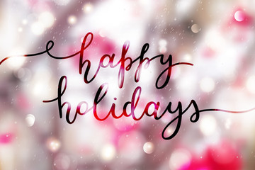 happy holidays lettering