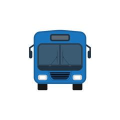Bus icon on white background. Ground public transport