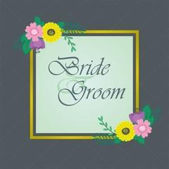 Flower Frame, Wedding Card, Wedding Invitation