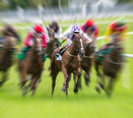 Horse race speed motion blur effect
