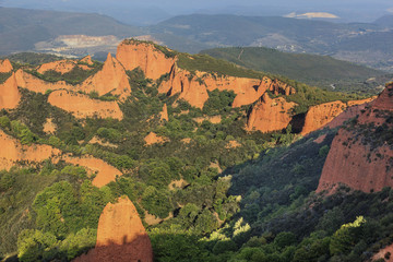 Gold mine of the Roman period. Las Médulas, Spain