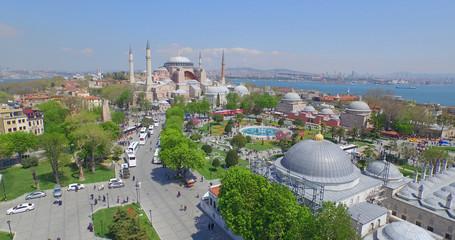 Printed kitchen splashbacks Turkey Aerial view of Sultanahmet Square in Istanbul