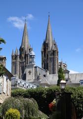 Flèches de la cathédrale - Coutances.