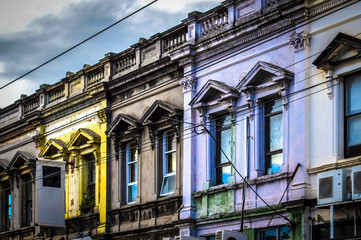 Colorful, Historic Architecture of Collingwood in Melbourne