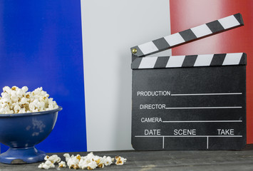 France Cinema Concept and Pop corns
