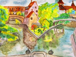 Nuremberg, hand drawn picture