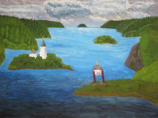 Island Valaam, painting