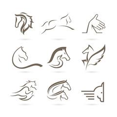 Set of Horse Logo Vector - Animal Logo
