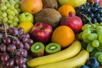 Assortment of fresh fruits