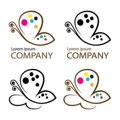 butterfly logo  emblem template for branding