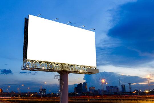 Blank billboard ready for use