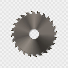 Circular saw blade vector icon.