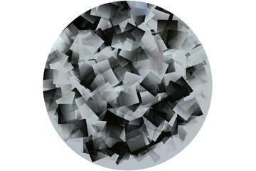 Kreis als Mosaik in schwarz und weiß