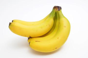 Bananen auf weissen Hintergrund
