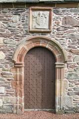 Old church door in Old KIrk Yard Galashiels