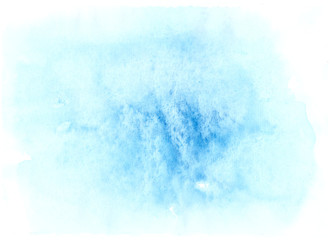 Soft dlue watercolor paint on canvas. Abstract art background for creative design.