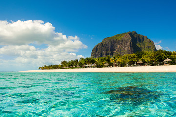 Foto auf Leinwand Tropical strand Panoramic view of Mauritius island landscape