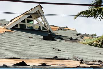 Modern buildings completely destroyed by Supertyphoon Haiyan / Yolanda