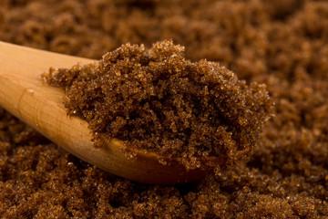 Brown sugar in spoon