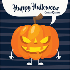 Halloween card cartoon design. Spooky cartoon halloween card and poster design