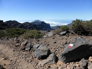 Hiking trail on the island of La Palma, one of the Canary Islands
