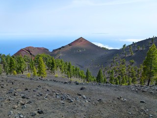 Colorful peak of the volcano San Martin on the island of La Palma, one of the Canary Islands 7