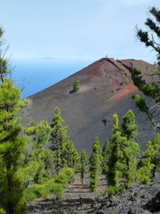 Colorful peak of the volcano San Martin on the island of La Palma, one of the Canary Islands 6