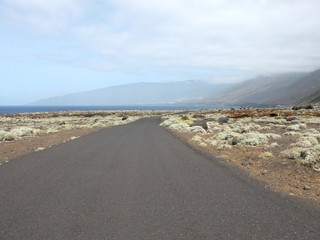 Road on the island of El Hierro, one of the Canary Islands