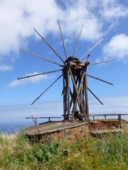 old windmill on the island of La Palma, one of the Canary Islands