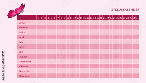 zykluskalender rosa mit schmetterling stockfotos und lizenzfreie vektoren auf. Black Bedroom Furniture Sets. Home Design Ideas