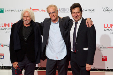 Actors (L-R) Pierre Richard, Christophe Lambert and Laurent Gerra attend the opening of the Lumiere 2017 Grand Lyon Film Festival in Lyon