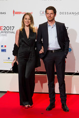 Actors Ludivine Sagnier and Pierre Deladonchamps attend the opening of the Lumiere 2017 Grand Lyon Film Festival in Lyon